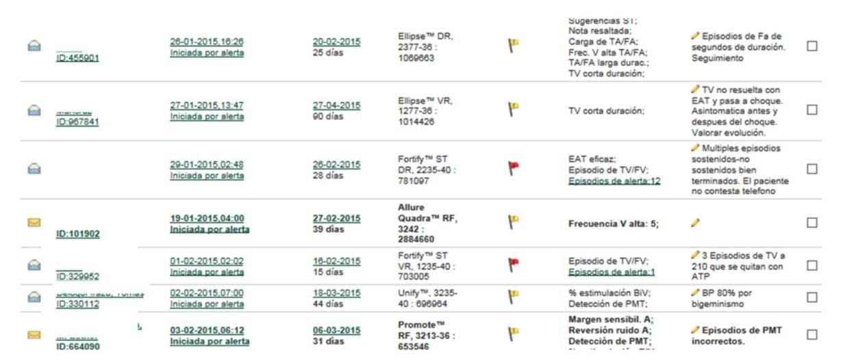 Figura 13: Desde la página web se determina la agenda de seguimientos