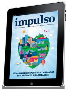 Portada de la revista impulso número 6 dedicada a los recambios de dispositivos cardiacos electrónicos implantables