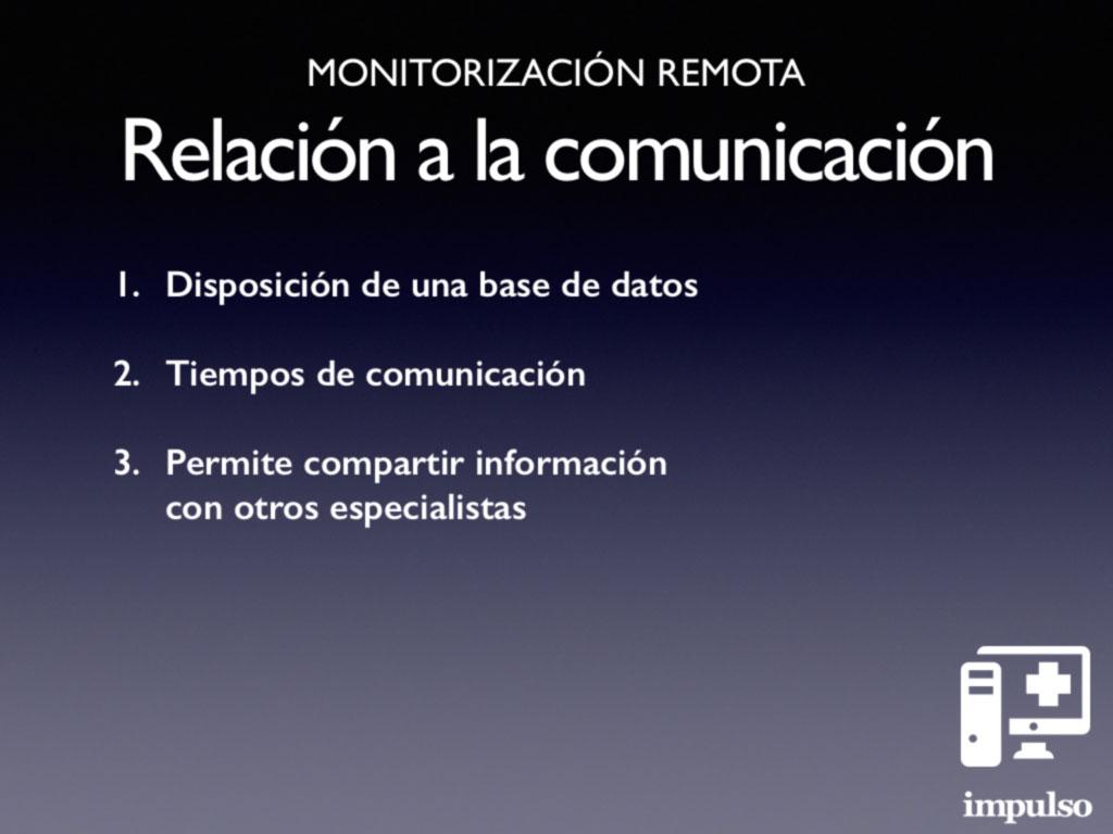 Monitorización remota. Objetivos